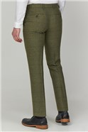 Green Heritage Tweed Tailored Fit Suit Trousers