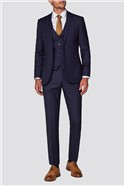 Branded Navy & Rust Windowpane Checked Suit