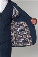 Deep Teal Check Tailored Fit Suit Trouser
