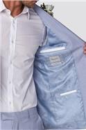 Light Blue Plain Tailored Fit Suit