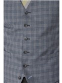 Stvdio Light Grey With Blue Windowpane Check Ivy League Suit