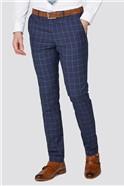 Stvdio Blue Windowpane Check Slim Fit Ivy League Suit