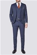 Stvdio Blue Bold Check Super Slim Ft Brit Suit