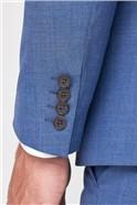 Dusky Blue Texture Slim Fit Suit