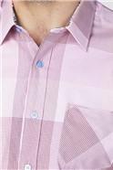 Pink Large Tonal Check Shirt