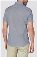 White Oval Print Shirt