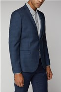 Blue Micro Check Suit