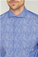 Stvdio by  Limited Edition Blue Swirl Jacquard Shirt