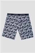 Printed Cotton Poplin Loungewear Shorts