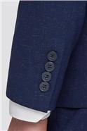 Branded Blue Glitter Flecked Skinny Fit Suit