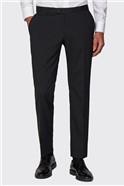 Black Plain Formal Tailored Trousers