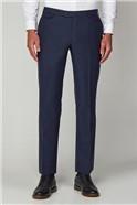 Blue Herrigbone Formal Tailored Trousers