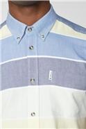 Engineered Blue & White Stripe Shirt