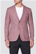 Raspberry Linen Tailored Fit Jacket