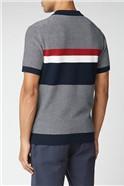 Chest Stripe Zip Knit Polo