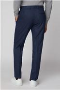 Mid Blue Broken Structure Tailored Fit Suit Trouser