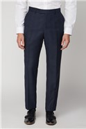 Navy Check Wool Blend Suit