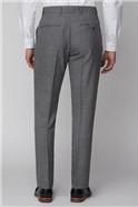 Grey Grid Regular Fit Waistcoat
