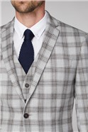 Grey Camel Check Tailored Fit Trousers