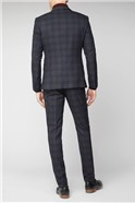 Navy Green Skinny Suit Trouser