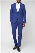 Blue Rust Textured Suit