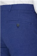 Warm Blue Texture Skinny Fit Trouser