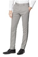Black Puppytooth Checked Skinny Fit Mens Suit