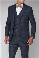 Blue Check Slim Fit Suit