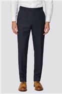 Navy Semi Plain Regular Fit Suit Trouser
