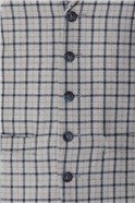 Grey Navy Check Tailored Fit Suit