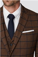 Rust Heritage Check Tailored Fit Suit Trousers