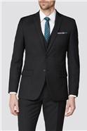 Black Texture Tailored Fit Suit
