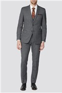 Charcoal Texture Tailored Fit Suit Trouser