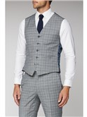 Cool Grey Blue Check Suit