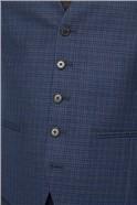 Navy & Tan Mini Check Waistcoat