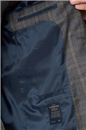 Branded Grey & Caramel Checked Tailor Fit Suit