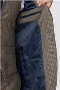 Branded Stone Micro Checked Tailored Fit Suit