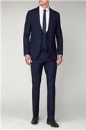 Navy Multi Check Slim Fit Suit