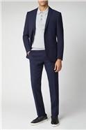 Deep Blue Tailored Suit Jacket