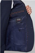 Stvdio Navy Check Performance Tailored Fit Trousers