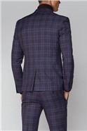 Purple Check Skinny Fit Suit
