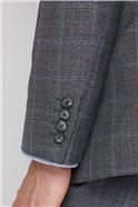 Grey Windowpane Check Soho Suit Trouser