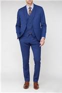 Bright Blue Jaquard Super Slim Fit Brit Suit