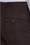 Burgundy Check Super Slim Fit Brit Trousers