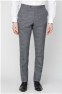 Grey Jaspe Checked Suit Trousers