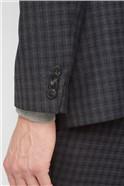 Charcoal Texture Regular Fit Suit Trousers