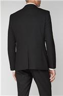 Black Stretch Slim Fit Suit Waistcoat