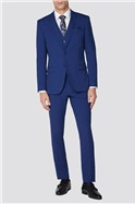 Bright Blue Slim Fit Suit