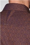 Stvdio Brown Deco Jacquard Shirt