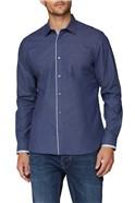 Stvdio Casual Navy Micro Dobby Shirt